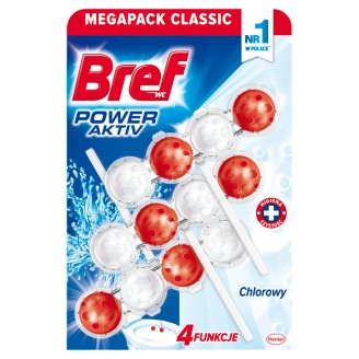 Bref WC Power Aktiv Chlorine Toilet Rim Block 3 x 50 g