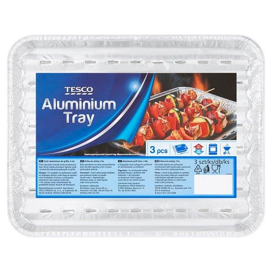 Tesco Tacki aluminiowe do grilla 22,5 cm x 28 cm 3 sztuki