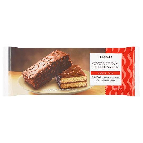 Tesco Wyrób cukierniczy w polewie kakaowej z nadzieniem kakaowym 350 g (10 x 35 g)