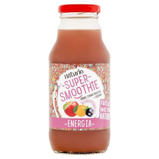 Naturio Super smoothie jabłko czarna porzeczka + guarana energia 330 ml