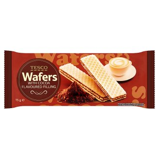 Tesco Wafers with Cocoa Flavoured Filling 175 g