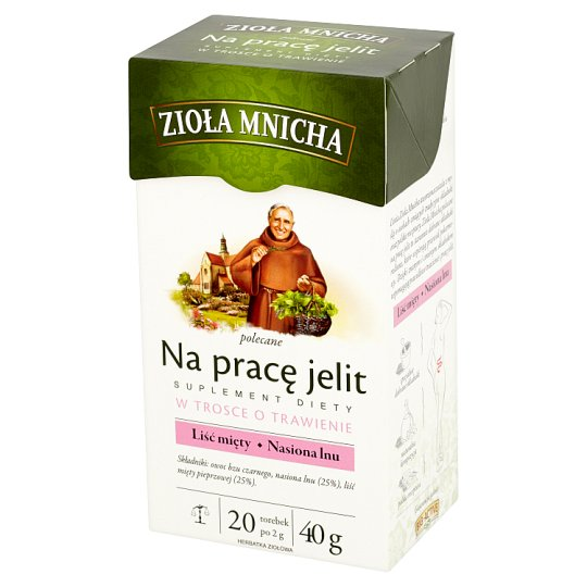 Big-Active Zioła Mnicha for Intestinal Health Dietary Supplement Herbal Tea 40 g (20 Tea Bags)