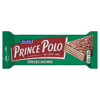 Olza Prince Polo Orzechowe Crispy Wafer with Nutty Flavor Cream Topped with Chocolate 35 g