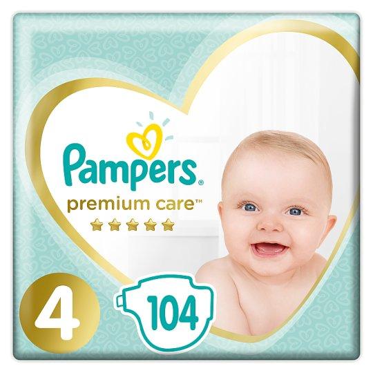 Pampers Premium Care, Rozmiar 4, 104 pieluszki, 9kg-14kg