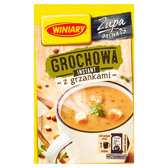 Winiary Smaczna zupa Pea Soup with Croutons 21 g