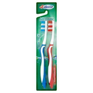 4Dent Medium Toothbrush Pack 2 Pieces