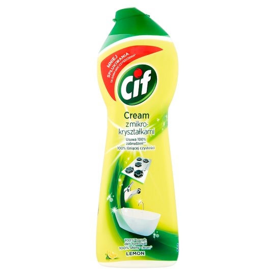 Cif Cream Lemon Cleaning Surfaces Lotion with Microcrystals 300 g