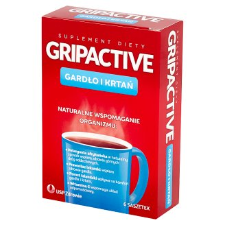 Gripactive Throat and Larynx Dietary Supplement 6 Sachets