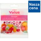 Tesco Value Drops o smaku owocowym 100 g