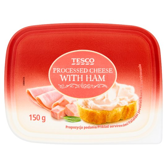 Tesco Processed Cheese with Ham 150 g