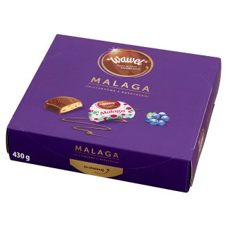 Wawel Malaga Cream Filled Chocolates with Raisins 430 g