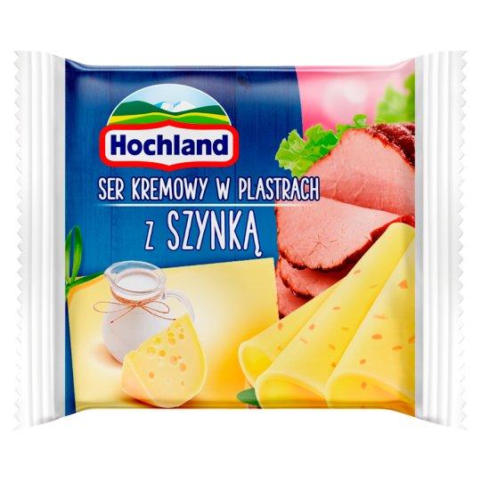 Hochland Ser kremowy w plastrach z szynką 130 g (8 sztuk)