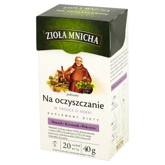 Big-Active Zioła Mnicha for Depurate Dietary Supplement Herbal Tea 40 g (20 Tea Bags)