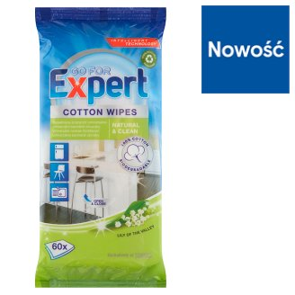 Go for Expert Lily of the Valley Cotton Wipes 60 Pieces