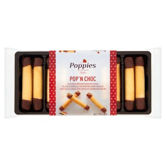 Poppies Pop' N Choc Crispy Rolled Cookies with Chocolate Flavoured Decoration 125 g