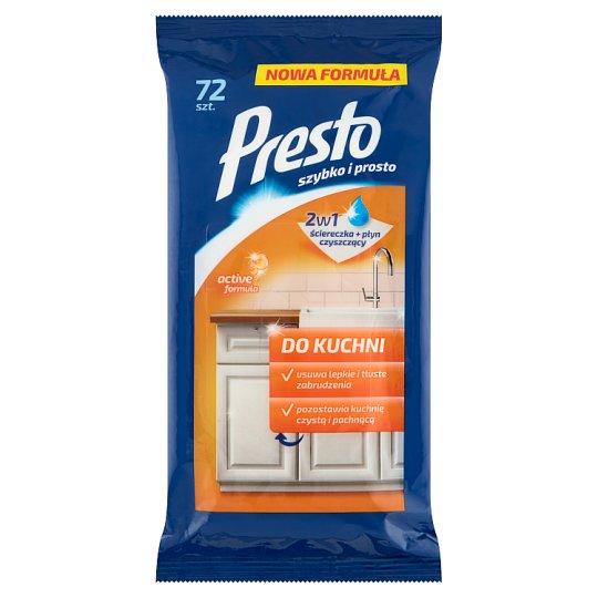 Presto Kitchen Cleaning Wipes 72 Pieces