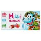 Hibbi Mlekoladki Batoniki mleczne z nadzieniem o smaku jogurtowo-truskawkowym 100 g (8 sztuk)