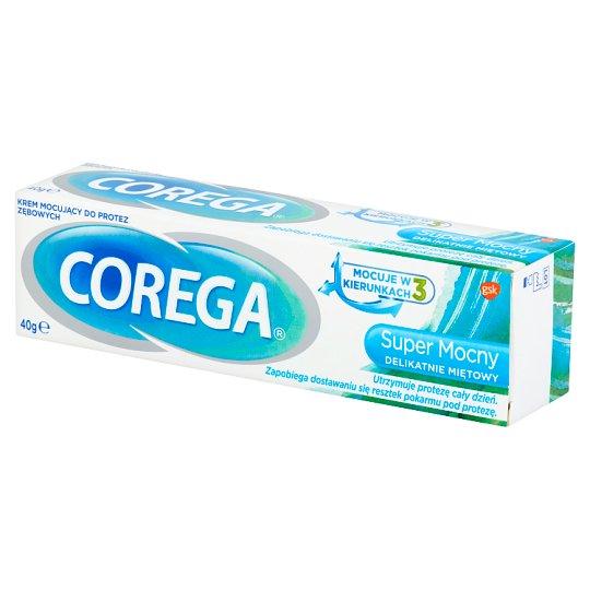 Corega Super Mocny Delikatnie Miętowy Krem mocujący do protez zębowych 40 g
