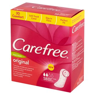 Carefree Original Fresh Scent Pantyliners 58 Pieces