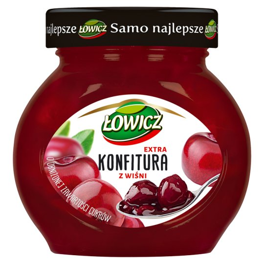 Łowicz Low Sugar Cherry Extra Jam 240 g