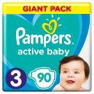 Pampers Active Baby Size 3, 90 Nappies, 6-10kg