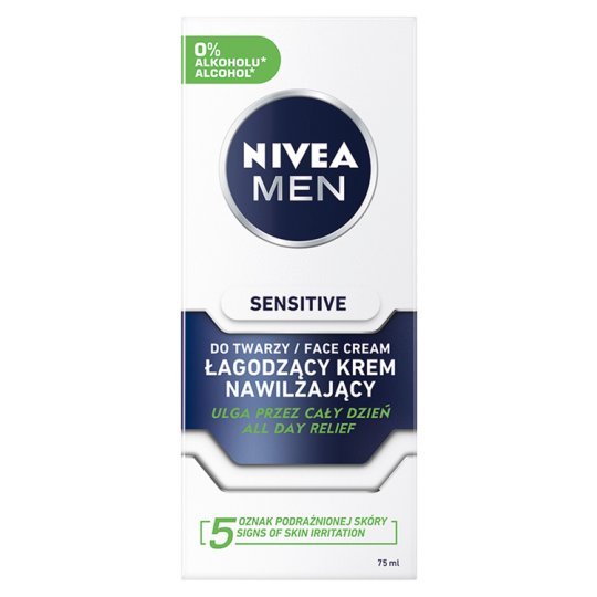 image 1 of NIVEA MEN Sensitive Face Care Moisture Cream 75 ml