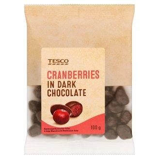 Tesco Żurawina kandyzowana w czekoladzie 100 g