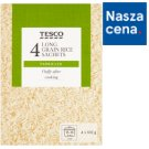 Tesco Long Grain Parboiled Rice 400 g (4 Bags)