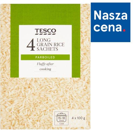 Tesco Ryż długoziarnisty preparowany termicznie 400 g (4 x 100 g)