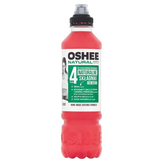 Oshee Natural Sports Drink Lemon and Black Currant Non-Carbonated Drink 0.75 L
