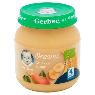 Gerber Organic Pear Banana after 4 Months Onwards 125 g