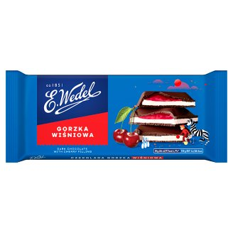 E. Wedel Dark Chocolate with Cherry Filling 100 g