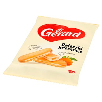 dr Gerard Pałeczki kremowe Cakes with Apricot Flavour Filling and Cream Flavour Cream 200 g