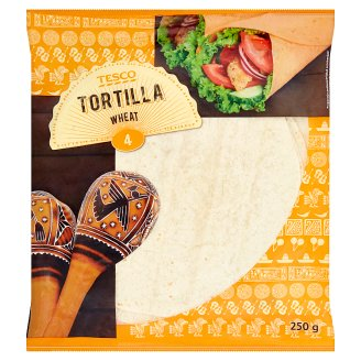 Tesco Tortilla Wheat 250 g (4 x 62.5 g)