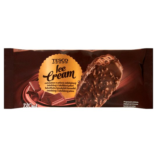 Tesco Chocolate Ice Cream Coated with Chocolate 120 ml