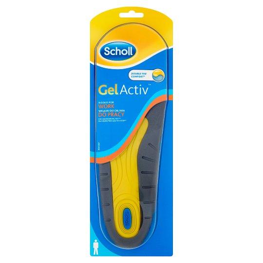 Scholl GelActiv Men's Insoles for Work Shoes Size 40-46.5