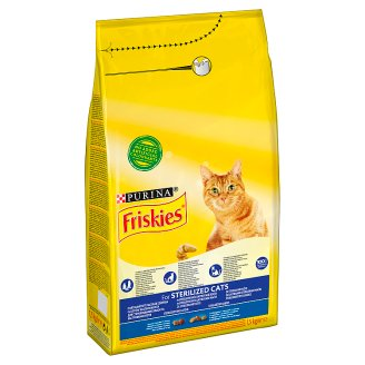 Friskies Sterilized Cat Food with Salmon and Vegetables 1.5 kg
