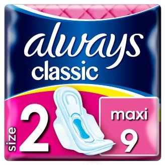 Always Classic Long Sanitary Towels Wings 9x