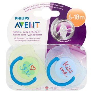 Avent Fashion Soothers 6-18 Months 2 Pieces