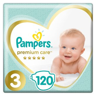 Pampers Premium Care Size 3 (Midi) 5-9kg, 120 nappies