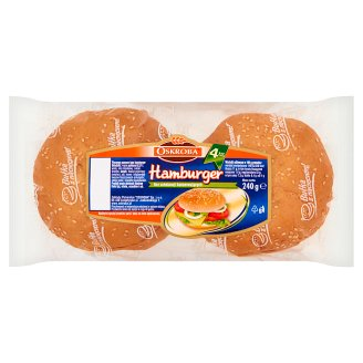 Oskroba Hamburger Wheat Bread 240 g (4 Pieces)