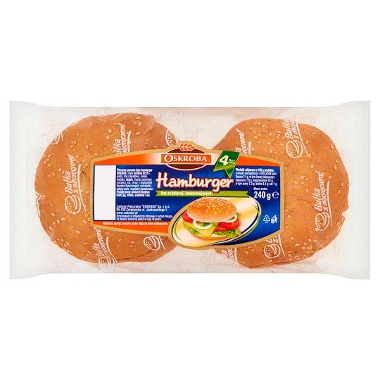 Oskroba Hamburger Pieczywo pszenne 240 g (4 sztuki)