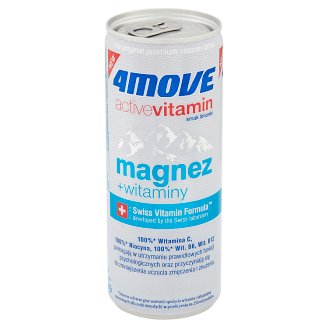 4Move Active Vitamin Magnesium + Vitamin B6 Carbonated Drink 250 ml