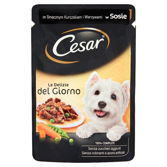 Cesar with Tasty Chicken and Vegetables in Sauce Complete Dog Food 100 g