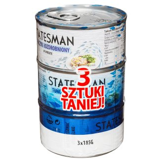 Statesman Shredded Tuna in Water 3 x 185 g