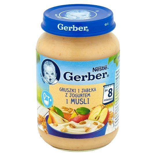 Gerber Gruszki i jabłka z jogurtem i musli po 8 miesiącu 190 g