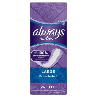 Always Dailies Extra Protect Panty Liners Large x 26