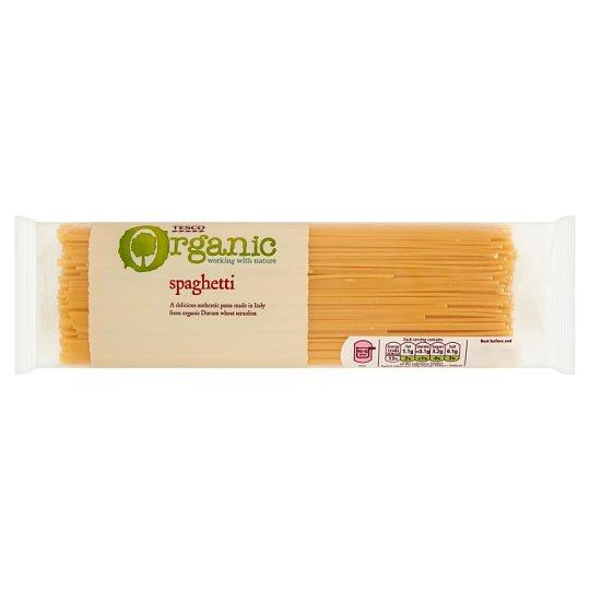 Tesco Organic Makaron spaghetti bezjajeczny 500 g