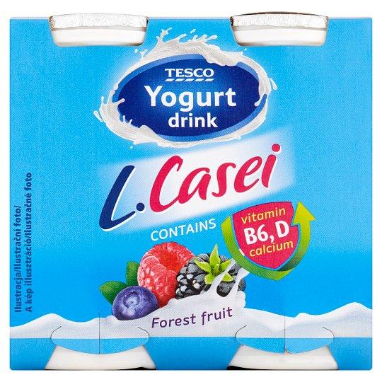 Tesco Forest Fruit Flavoured Yogurt Drink 4 x 100 g