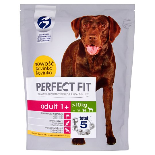 Perfect Fit Adult 1+ >10 kg Complete Food for Adult Dogs 825 g